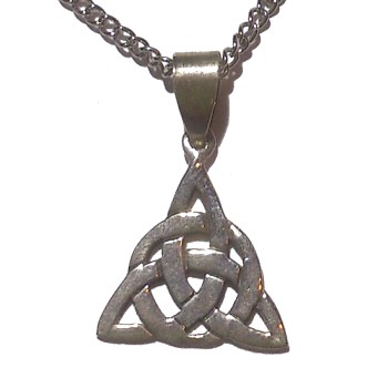 Jewelry Triquetra Silver Necklace