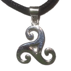 Small Celtic Triskele Silver Necklace