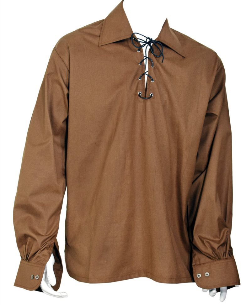 Brown Ghillie Jacobite Highland Shirt