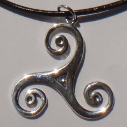 Large Celtic Triskelion Silver Necklace
