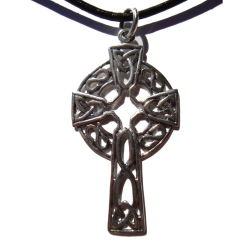 Silver Celtic Cross and Triquetra Necklace