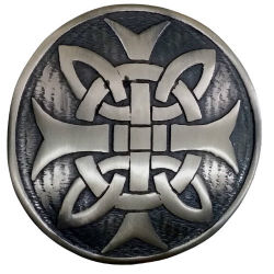 Celtic Cross Plaid Brooch Antique