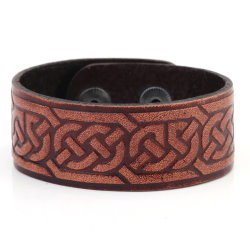 Celtic Knotwork Leather Bracelet