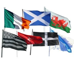 Small Flags of Ireland / Scotland / Wales / Brittany / Galicia / Cornwall / Isle of Man (45x30cm / 18''x12'')