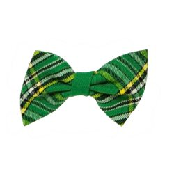 Bow Tie in Green Tartan