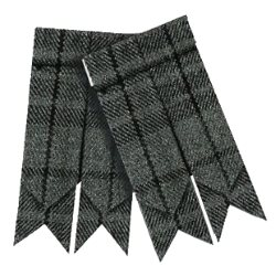Flashes for Grey Tartan Kilt Hose Socks