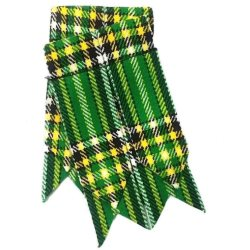 Flashes for Green Tartan Kilt Hose Socks
