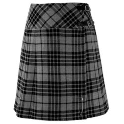 Women's Breton / Cornish Grey Billie Kilt Skirt