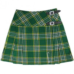 Women's Irish Green Billie Kilt Skirt
