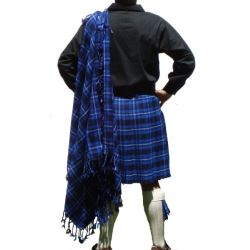 Galician Blue Tartan Fly Plaid