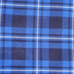 Galician Blue Tartan Fabric
