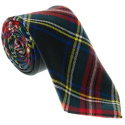 Tie for Black Stewart Tartan Kilt