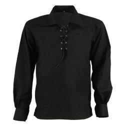 Black Ghillie Jacobite Highland Shirt