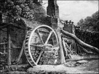 Iron Forge at Tintern, drawning by Thomas Hearne, 1794