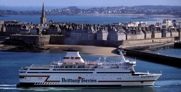 Saint Malo has regular ferry services to England and the Channel Islands. Photo © Brittany Ferries