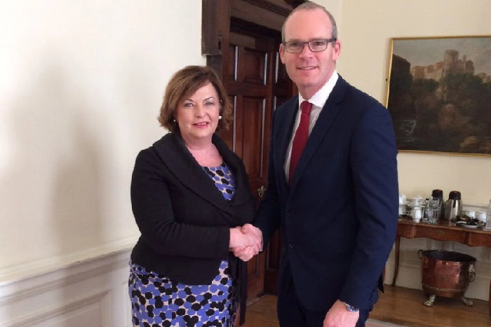 Scotland's Cabinet Secretary for Culture, Tourism and External Affairs, Fiona Hyslop and Ireland's Tánaiste and Minister for Foreign Affairs and Trade, Simon Coveney